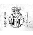 wedding menu vector image