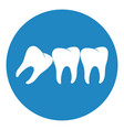 wisdom tooth icon or third molar vector image vector image