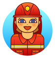 woman firefighter vector image vector image