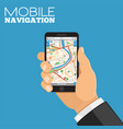 mobile navigation concept vector image