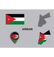 Map of Jordan and symbol vector image