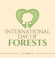 abstract international day forests for banner vector image vector image