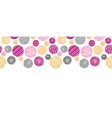 Abstract textured bubbles horizontal border vector image