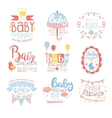 Baby Shower Invitation Template In Pastel Colors vector image vector image