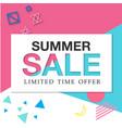 banner summer sale limited time offer image vector image vector image