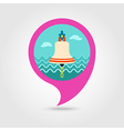 Bell marine pin map icon Summertime Vacation vector image vector image