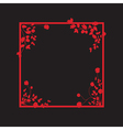 black and red floral box vector image vector image