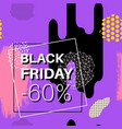 black friday sale banner for online shopping vector image vector image