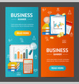 business banner vecrtical set vector image vector image