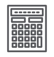 calculator line icon mathematics and accounting vector image vector image