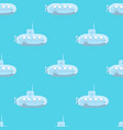 cartoon-styled submarine seamless pattern vector image