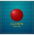Clown logo circus design vector image