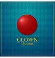 Clown logo circus design vector image vector image