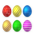 color easter egg on white background easter egg vector image vector image