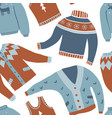 cozy winter seamless pattern vector image vector image