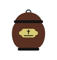 Cremation urn icon vector image vector image
