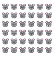 cute koala emotion face in various expession vector image vector image