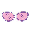 cute sunglasses fashion style design vector image vector image