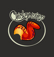 delicious food grilled chicken wing grilled vector image vector image