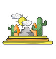 desert and cactus vector image