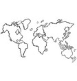 draft of worldmap without color vector image