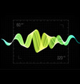 equalizer abstract wave icon vector image vector image