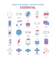 essential icon dusky flat color - vintage 25 icon vector image vector image