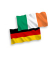 flags of ireland and germany on a white background vector image