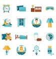 Flat Icons Sleep Time vector image