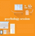 flat psychologist office for counseling vector image