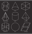 geometric shapes set vector image vector image