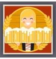 Girl with Beer Mug Oktoberfest Poster Festival vector image vector image