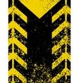 grungy worn hazard stripe vector image vector image