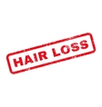 Hair Loss Text Rubber Stamp vector image vector image