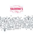 happy valentines day decorative card vector image vector image