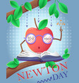 holiday banner newton day vector image vector image
