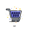 icon shopping cart for retail and consumerism vector image