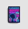 karaoke design poster karaoke party design vector image vector image