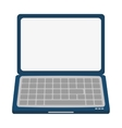 laptop frontview icon vector image