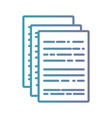 line business document paper office vector image vector image