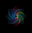 line drawing colorful mandala sacred geometry vector image vector image