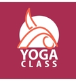 logo in a line style Fitness room yoga vector image vector image