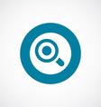 magnifier eye icon bold blue circle border vector image vector image