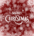 Merry Christmas - red glittering lettering design vector image