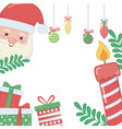 merry christmas santa claus and gifts vector image vector image