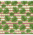 monstera plant seamless pattern on a vector image vector image