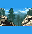 mountain forest landscape vector image vector image