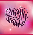my family of badges logo famil vector image
