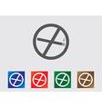 No smoking icons vector image vector image
