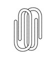 paper clip stationery office or school tools vector image